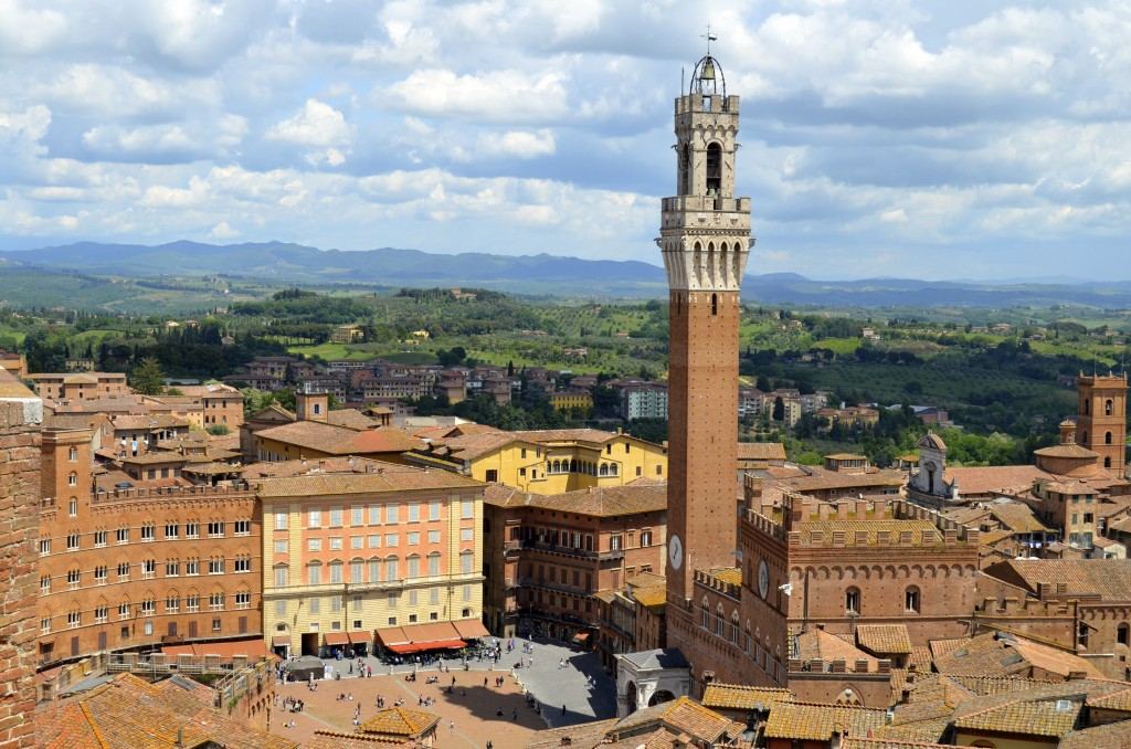 Siena views from hilltop